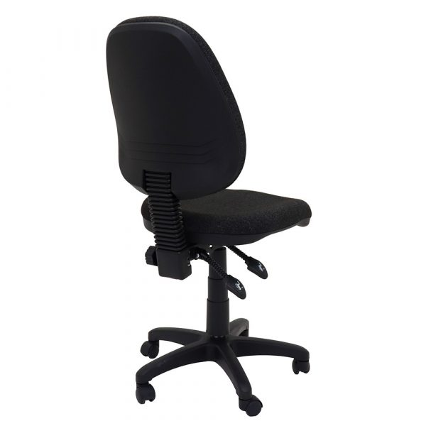 Commercial Grade High Back Operator Chair Black