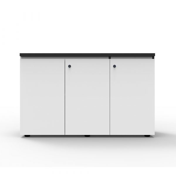 This Deluxe Infinity Swing 3 door cupboard is completely lockable and finished in a stunning laminate design with black trimming. Featuring a shark nose on the top door for easy opening.