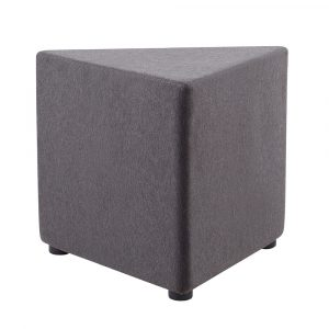 The Mars Triangle Ottoman is made with soft fabric upholstery and with a 5 year manufacturers warranty is both durable and comfortable.