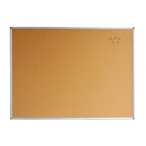Composite Corkboard with Aluminium Frame, Concealed Corner Fixing, Suitable for Pins or Stickers