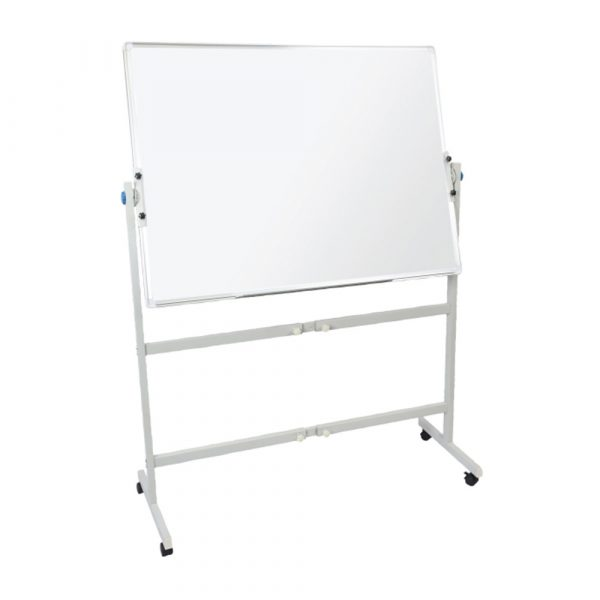 Double Sided Pivoting Mobile Whiteboard with Pen Tray
