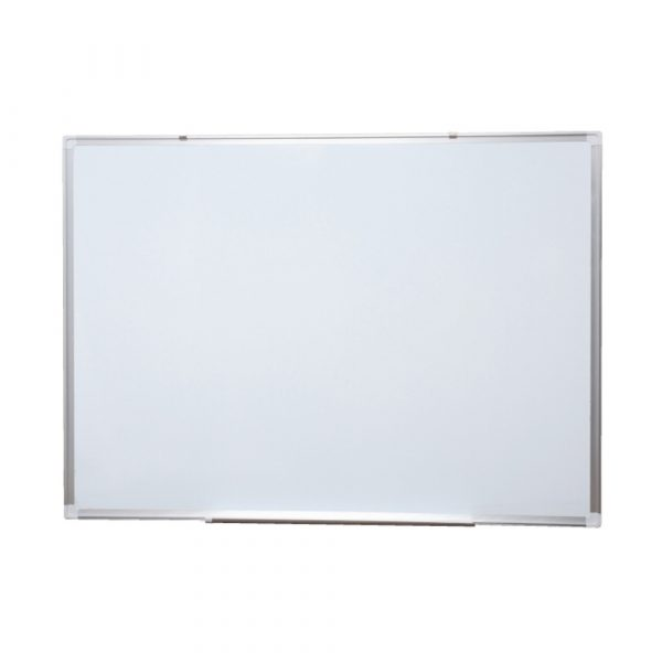 Heavy duty whiteboard with aluminium frame. Can be used with magnets and for commercial use and includes acrylic polyester resin.