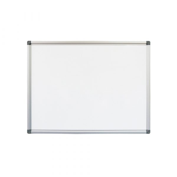 Heavy duty porcelain whiteboard with aluminium frame. Can be used with magnets and for commercial use.